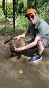 image of Patrick with a wallaby